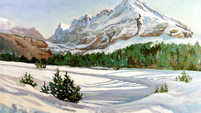 Lake O'Hara - Winter Shadows