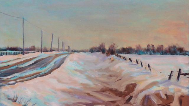 Winter's Glow - Prairie Road