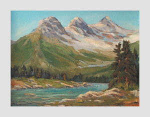 Three Sisters, Alberta Landscape PaintingFine Art Painting